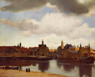 "Dutch painter Jan Vermeer painted the town of Delft, Holland where he lived for his entire life (1632-1675). Above the town, he painted <a href=""/earth/Atmosphere/clouds/stratocumulus.html"">stratocumulus clouds</a> in the sky. Stratocumulus clouds usually produce only light precipitation, in the 