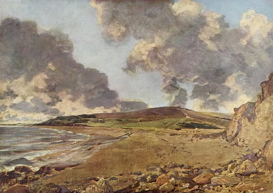"British painter John Constable  (1776-1837) made many paintings of clouds. It looks like he depicted towering <a href=""/earth/Atmosphere/clouds/cumulus.html"">cumulus clouds</a> in this painting of Weymouth Bay.  These clouds may have turned into <a href=""/earth/Atmosphere/clouds/cumulonimbus.html"">cumulonimbus</a> and a <a href=""/earth/Atmosphere/tstorm.html"">storm</a> later in the day.<p><small><em> Public domain/Wikipedia</em></small></p>"