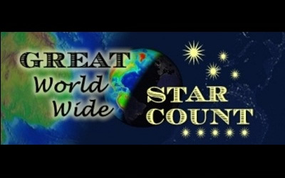 "The <a href=""http://www.starcount.org"">Great World Wide Star Count</a> is an international Citizen Science campaign.  The purpose of this event is to encourage everyone to go outside, look skywards after dark, count the stars they see in certain constellations, and report what they see online.  This Windows to the Universe Citizen Science Event is designed to encourage learning in astronomy! Have fun everyone!<p><small><em></em></small></p>"