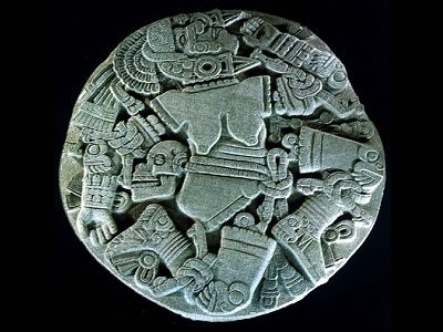 "<a href=""/mythology/coyolxauhqui_moon.html&edu=high&dev="">Coyolxauhqui</a> was the <a href=""/earth/moons_and_rings.html&edu=high&dev="">Moon</a> goddess according the Aztec mythology. The image above reproduces ""The Coyolxauhqui Stone,"" a giant monolith found at the Great Temple of Tenochtitlan.<p><small><em>Image courtesy of the Museo del Templo Mayor, Mexico.</em></small></p>"