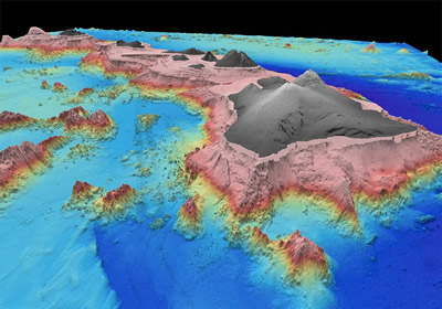 "Scientists are still trying to learn how the <a href=""/earth/interior/volcanism.html"">volcanic</a> Hawaiian Islands formed. One theory is that they are made by upwelling plumes of <a href=""/earth/interior/lava.html"">lava</a> from the mantle inside the <a href=""/earth/earth.html"">Earth</a>. Scientists have obtained data that makes a strong case for the existence of a deep mantle plume below the Hawaiian islands.<p><small><em>Image Courtesy of Paul Johnson, University of Hawaii</em></small></p>"