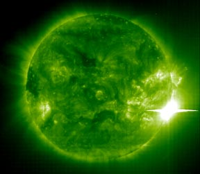 A large solar flare as viewed in the ultraviolet